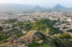 View of the city of Pushkar Stock Photo