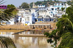 View of the City of Pushkar, Rajasthan, India. Stock Images