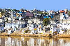 View of the City of Pushkar, Rajasthan, India. Stock Image