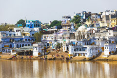 View of the City of Pushkar, Rajasthan, India. Stock Photos