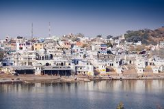 View of the City of Pushkar, Rajasthan, India. Stock Photo