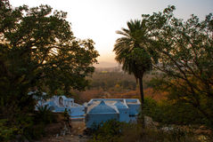 View of the City of Pushkar, Rajasthan, India. Sunset. Royalty Free Stock Photos
