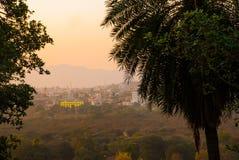 View of the City of Pushkar, Rajasthan, India. Sunset. Stock Photos
