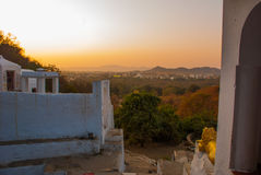 View of the City of Pushkar, Rajasthan, India. Sunset. Royalty Free Stock Image