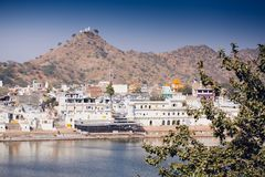 View of the City of Pushkar, Rajasthan, India. Royalty Free Stock Photos