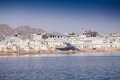 View of the City of Pushkar, Rajasthan, India. Royalty Free Stock Photo
