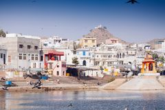 View of the City of Pushkar, Rajasthan, India. Royalty Free Stock Images