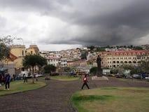 View of the city, Quito, Ecuador. Royalty Free Stock Photos