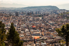 View of the city of Quito Stock Photos