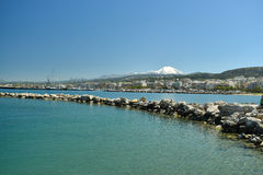 View of the city of Rethymnon Royalty Free Stock Photography