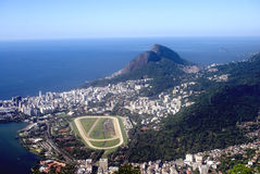 View of the city, Rio de Janeiro, Brazil. View of Rio de Janeiro from the Corcovado Stock Photo