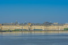 View of the city and the river Garonne, Bordeaux, France. Copy space for text stock photo