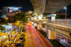 View of the city road and traffic in Bangkok Stock Photos