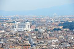 View of the city of Rome from the dome of St. Peter's Basilica Royalty Free Stock Photo