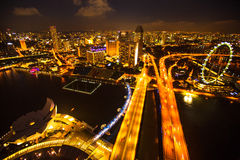 A view of city from roof Marina Bay Hotel Royalty Free Stock Photography