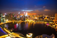 A view of city from roof Marina Bay Hotel Royalty Free Stock Image