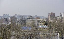 View of the city of Rostov-on-Don with a bird's-eye view Royalty Free Stock Photos