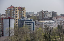 View of the city of Rostov-on-Don with a bird's-eye view Royalty Free Stock Photo