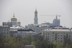 View of the city of Rostov-on-Don with a bird's-eye view Stock Image