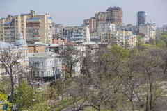 View of the city of Rostov-on-Don with a bird's-eye view Stock Photos