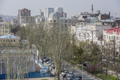 View of the city of Rostov-on-Don with a bird's-eye view Stock Photo