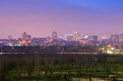 View of the city of Rostov-on-Don with the left bank of the Don Royalty Free Stock Image