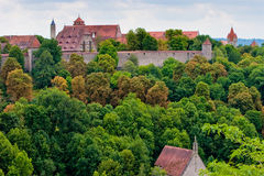 View of the city Rothenburg in Germany. View from the city Rothenburg in Germany Royalty Free Stock Photography