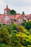 View of the city Rothenburg in Germany. View from the city Rothenburg in Germany Stock Photo