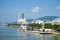 View on the city's waterfront on a sunny day. Da Nang, Vietnam Stock Photography