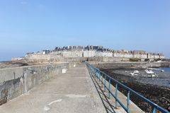 View of the city of Saint Malo in Brittany Stock Image