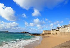View of the city of Saint-Malo  (Brittany France) Royalty Free Stock Image