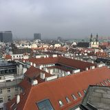 View of city from Saint Stephen& x27;s Church, Vienna, Austria Stock Photos