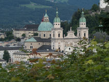 A view of the city of Salzburg Stock Photo