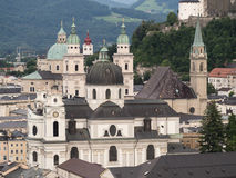 A view of the city of Salzburg Royalty Free Stock Photos