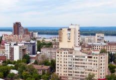 View of the city Samara royalty free stock image