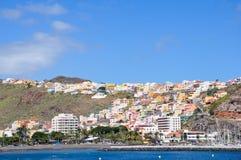 View of city San Sebastian, La Gomera, Canaries stock images