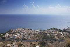 View the city of Sant'Elia. From Solunto Stock Photos