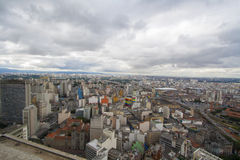 View of the city of Sao Paulo Royalty Free Stock Photos