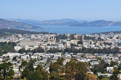 View of the city Sausalito and the Bay of San Francisco. In Marin County, California, United States royalty free stock photos