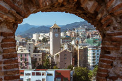 View of the city of Savona Italy. From the castle `Priamar Royalty Free Stock Images