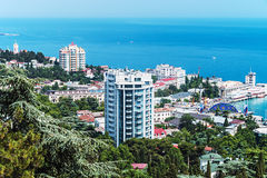 View of the city and the sea in Yalta Royalty Free Stock Photography