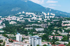 View of the city and the sea in Yalta. Royalty Free Stock Photos
