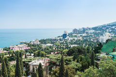 View of the city and the sea in Yalta Stock Image