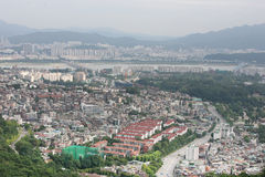 View of the city of Seoul Stock Images