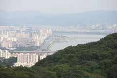 View of the city of Seoul Korea Royalty Free Stock Photo