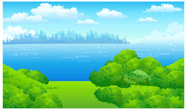 The view of City Skyline Royalty Free Stock Photos