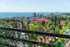 View of city of Sochi from the observation deck. Russia. View of the city of Sochi from the observation deck. Russia royalty free stock photo