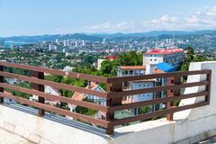 View of city of Sochi from the observation deck. Russia. View of the city of Sochi from the observation deck. Russia royalty free stock images