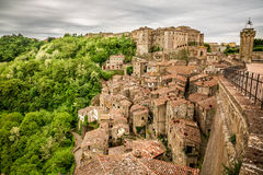 View of the city Sorano. Italy Royalty Free Stock Photography