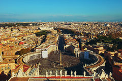 View of the city. View of the square of the Vatican and the city of Rome royalty free stock photography